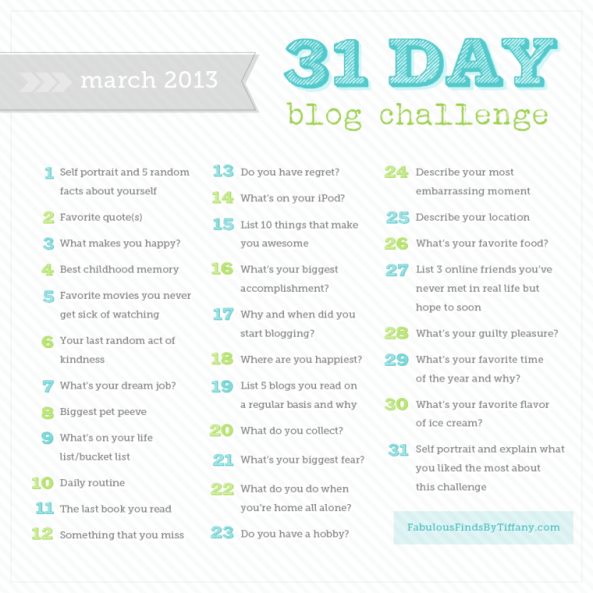 March blog challenge