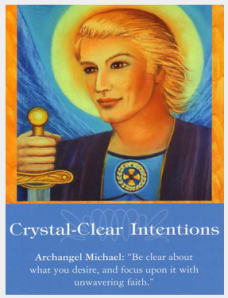 Clear archangel-oracle card