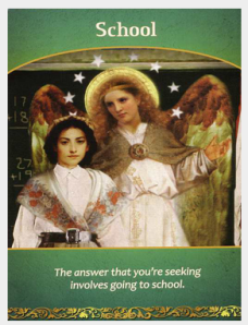 Education - life purpose angel card